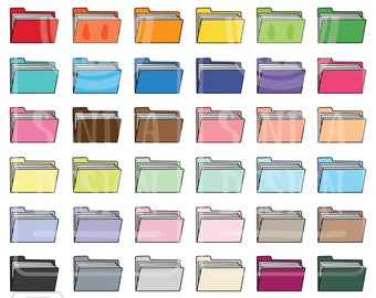 45 Doodle File Folder Clipart. Personal and comercial use.