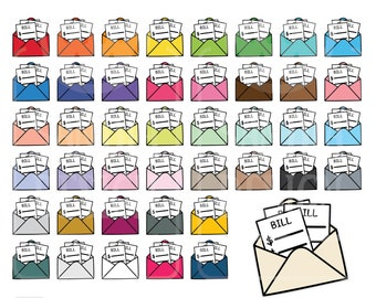 45 Doodle Pay Bills Clipart. Personal and comercial use.