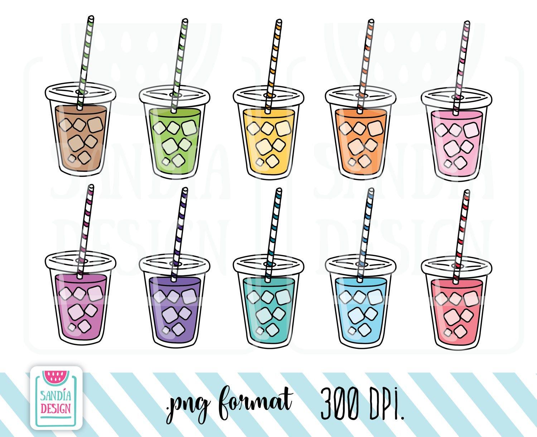 10 Doodle Frozen Drink Frozen Tea Frozen Coffee Clipart ...