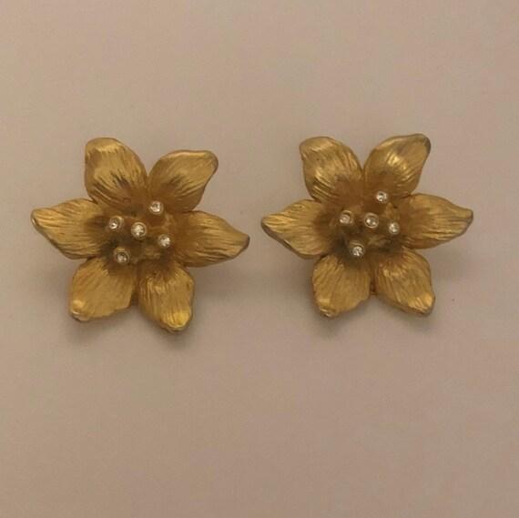 Vintage Norma Jean flower burst earrings, Norma Je