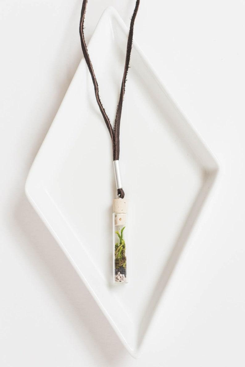 Miniature Terrarium Necklace // A Wearable Organic Ecosystem image 0