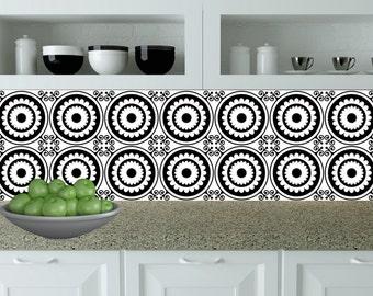 Tegel Decoratie Stickers : Set van 24 tegels stickers zwart & wit huisontwerp decoratie etsy