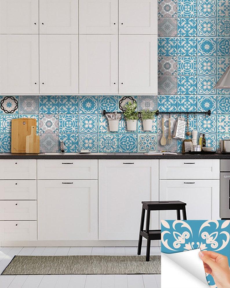 Küche-Aufkleber, die neue portugiesische Fliesen Aufkleber Home Dekor Ideen  Fliesen Aufkleber Set von 24 Fliesen Aufkleber mexikanische Fliesen ...