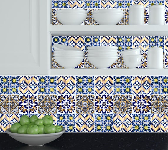 wall decals DIY Set tile Stickers home decor Kitchen bathroom stickers HA5