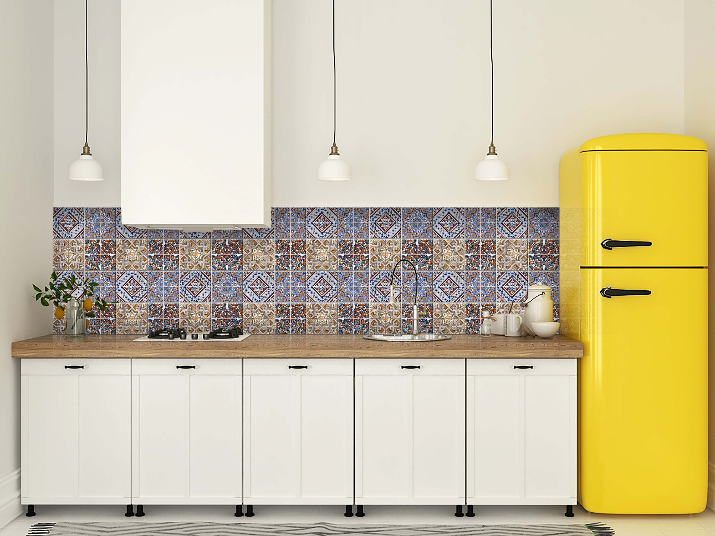 gemischte fliesen 24 aufkleber keramik wand k che bad. Black Bedroom Furniture Sets. Home Design Ideas