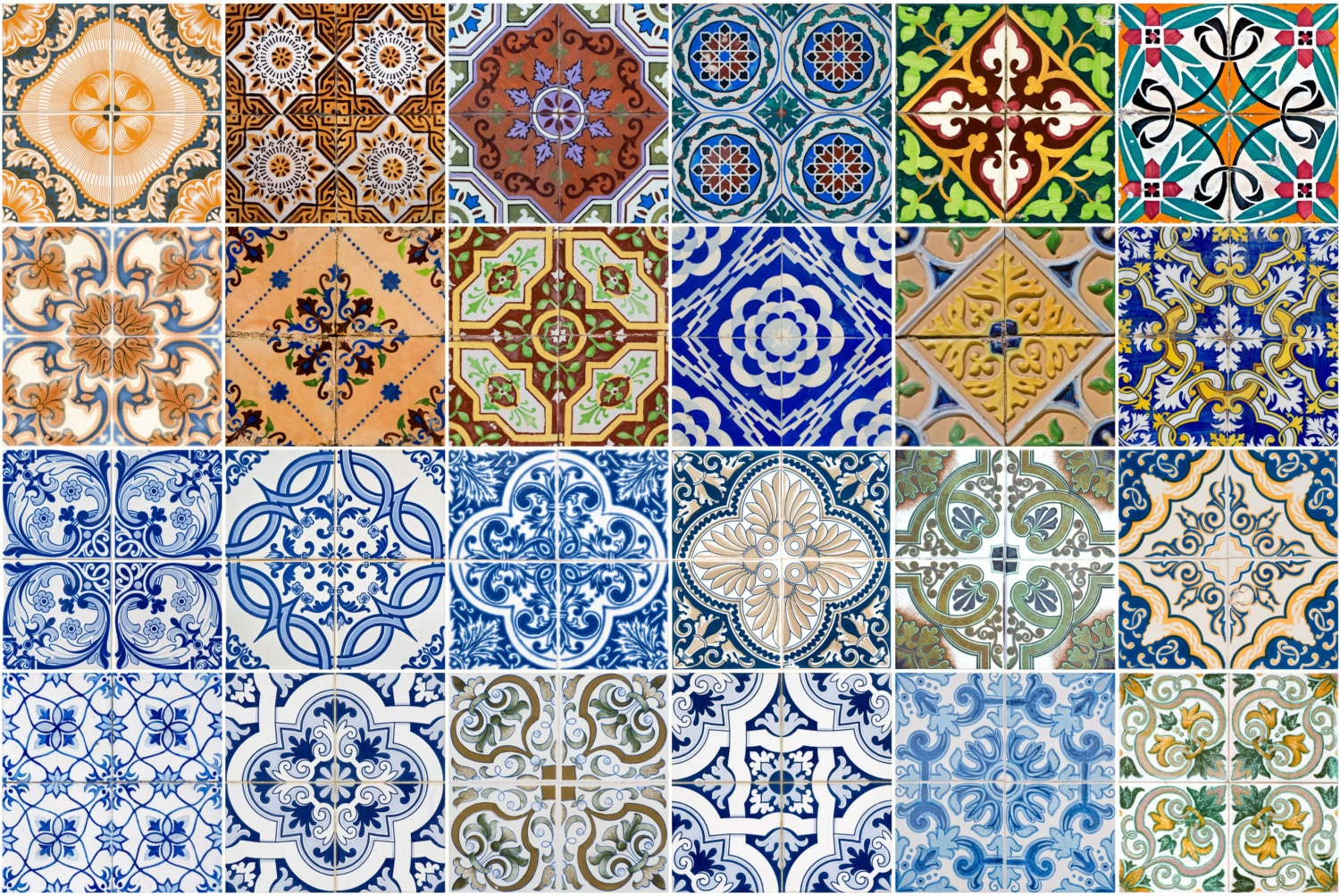 tile stickers wall decal spenish style adesivi per