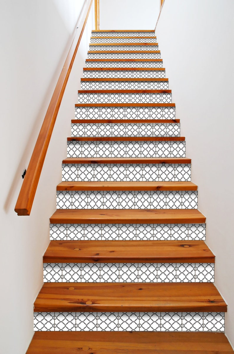 Retro decal retro Tile stickers Mexican tile stickers mixed for walls Kitchen decals bathroom Stair decals B24