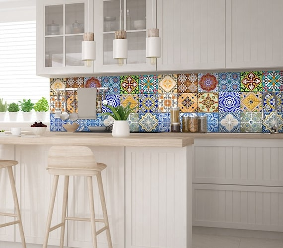 Carrelage Stickers Ideas Bathroom Tile Sticker Set Of 24 Tiles Decal Mixed Tiles For Walls Kitchen Decals Carrelage Stickers Ha4