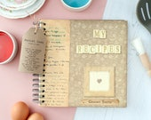 Vintage Style Recipe Book - Personalised My Recipes Book