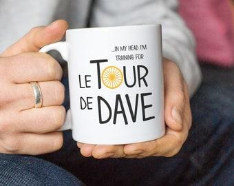 Personalised Cycling Mug, Tour De France Mug, Personalised Cycling Lover Gift, Funny Cyclist Mug, Gift For Cyclist
