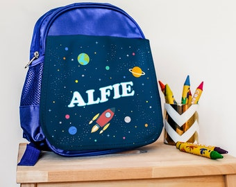 Space Explorer Backpack, Personalised Rucksack for Outer Space Lovers, Backpack for Kids