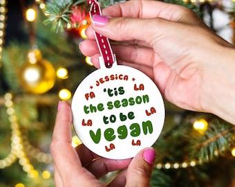 Personalised Vegan Christmas Bauble