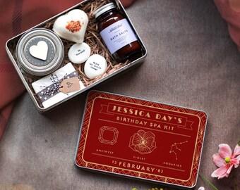 Ultimate Birthday Home Spa Kit, Personalised  Vegan Pamper Kit, Home Spa Gift Set