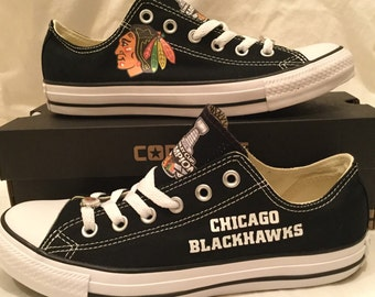 Chicago Blackhawks Stanley Cup Converse Chuck Taylor Sneakers NHL