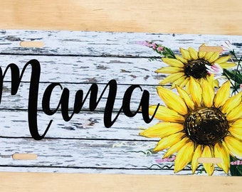 GOSTONG Sunshines Sunflower Auto Accessories License Plate Metal,Stylish Design Aluminum License Plate Cover Holder Front /& Rear Car Decorative,Standard Size