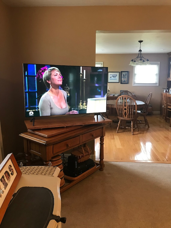 Large Swivel TV stand, rotating TV stand, pivoting TV stand, Lazy Susan tv Stand. Heavy Duty tv Stand Yes We Ship Canada and International