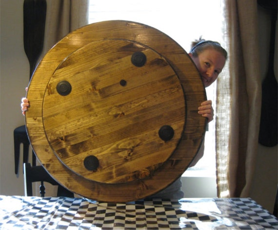 "Large Wood Lazy Susan For Dining Table Sizes 18"", 20"", 22"", 24"", 26"", 28"", 30"", 32"", 34"", 36"", 38"", 40"", 44"", 48"", 50"", 54"", 58"", and 60"""