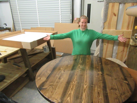 "Extra Large Lazy Susan For Large Dining Table 64"", 72"", 84"", 96"" table or larger free color stain matching! Large 60"" 54"" 48"" 36"" Sizes!"