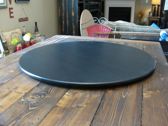 Ultra Thin Low Profile Wood Lazy Susan For Dining Table or Counter Top