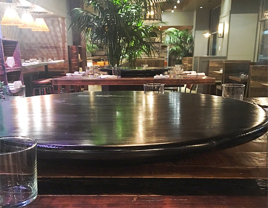 Large Kitchen Wood Lazy Susan For Dining Table Up To 60