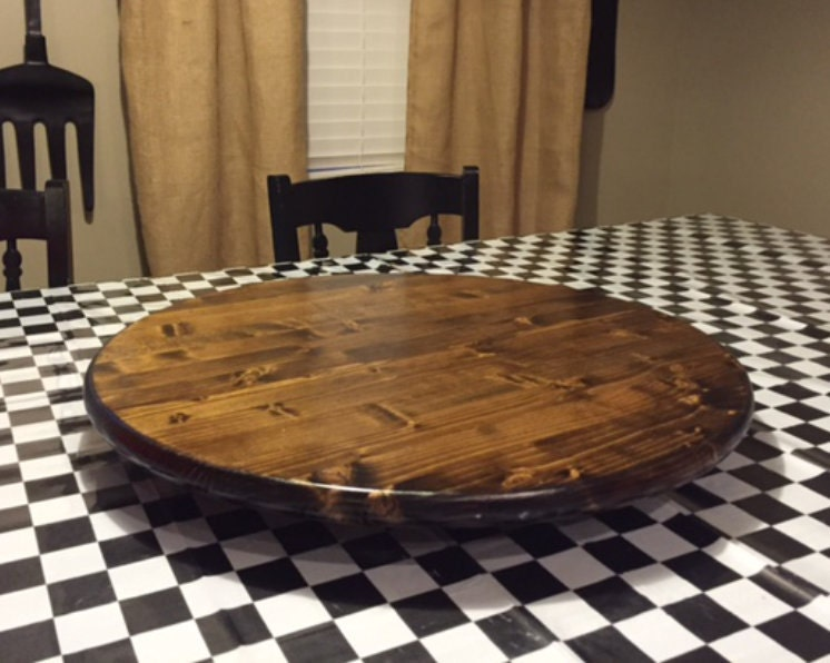 Wood Lazy Susan Table Centerpiece