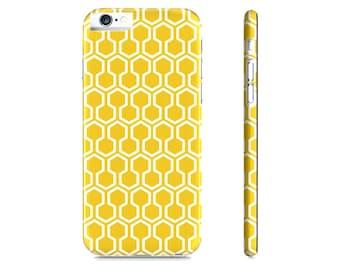 iPhone 6, iPhone 7 geval honingraat iPhone geval - gele iPhone geval - geometrische - geometrische iPhonegeval - iPhone 8 aanvraag