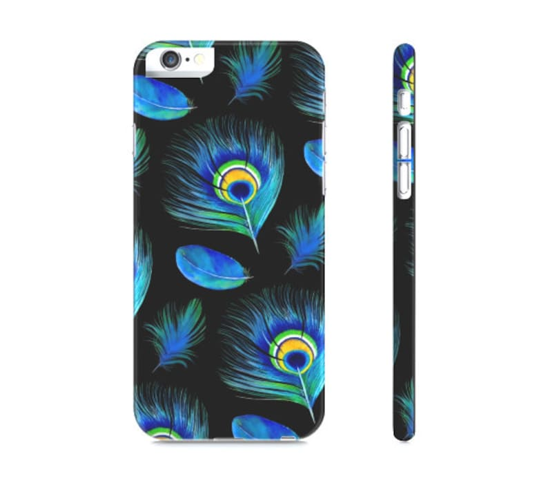 new product 3fe3d 33959 iPhone 6 Case , iPhone 7 Case, Peacock Feather iPhone Case - Peacock Phone  Case - Boho Feathers - Peacock Phone Case - iPhone x case