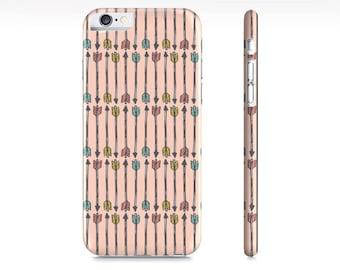 iPhone 6 case, iPhone 7 Case Arrows Peach iPhone Case - Arrows Phone Case - Pastel Southwestern Arrows  - -  iPhone 8 case