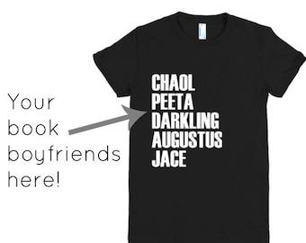 Custom Book Boyfriend T-Shirt -  Reader Gift - Bookworm - Gift For Her - Bookish Sweatshirt - Book Lover T-Shirt- Bookish Clothing