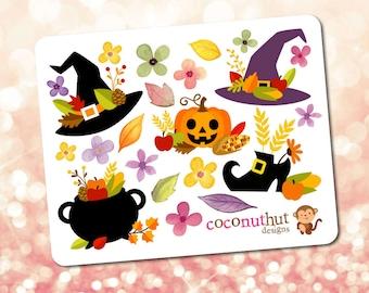 Halloween / Thankgiving / Fall / Harvest / Autumn Theme Mini Planner Sticker Sheet