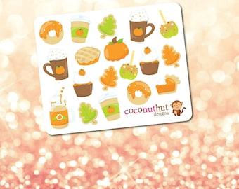 Thankgiving / Fall / Harvest / Autumn Treats Mini Planner Sticker Sheet