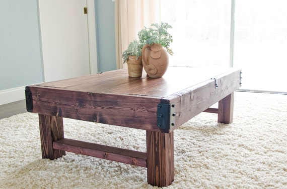 Rustic Coffee Table Farmhouse Coffee Table Rustic Industrial Etsy