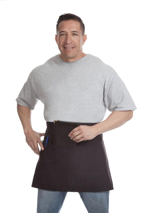Camareros y camarera corto negro delantal servidor uniforme | Etsy