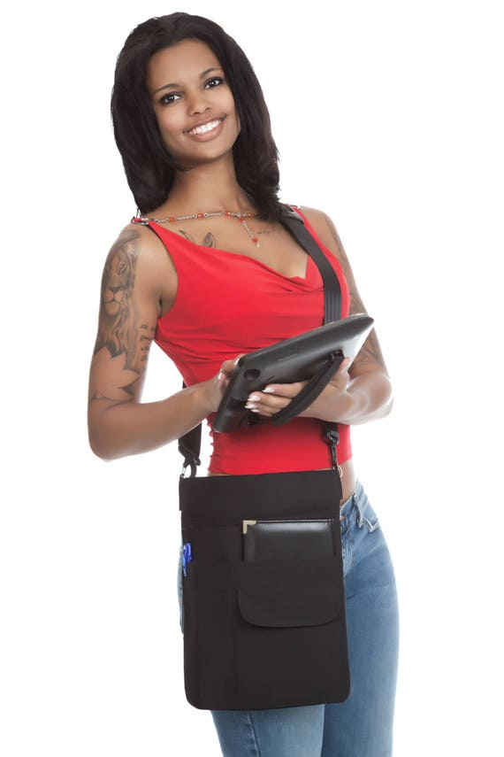"""10/"""" Tablet USA Quality Holster Pouch w// Adj Shoulder Sling iPad"""