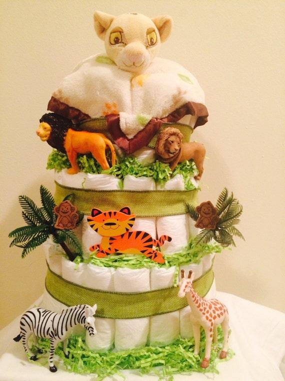 Lion King Diaper Cake Jungle Theme   Etsy
