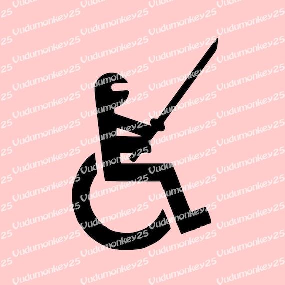 Rollstuhl Ninja Oldschool Aufkleber Aufkleber Auto Lkw Laptop Etsy