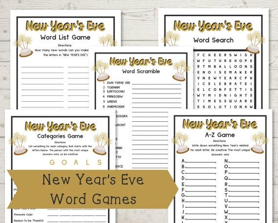 New Year's Activities Bundle  Word Games