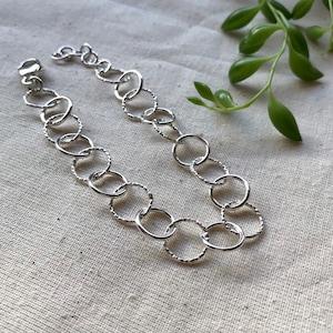 Sterling Bracelet Silver Links Handmade Links Organic Silver Links Statement Le Chien Noir Unisex Bracelet Boho Jewelry Gift for Her