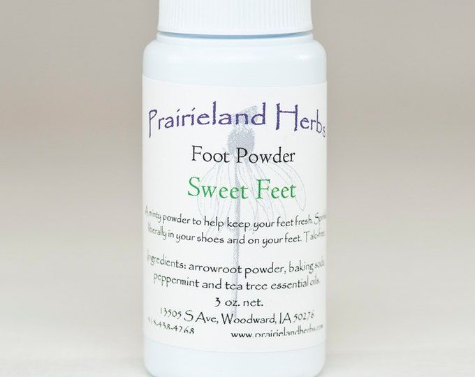 Sweet Feet Foot Powder all natural deodorizing