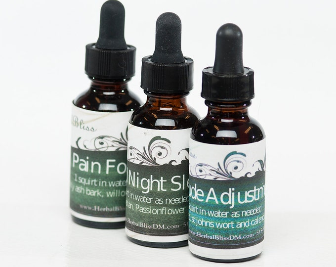 Herbal Tinctures - Natural relief from headaches, pain, help for sleeping etc.