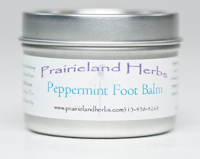 Peppermint Foot Balm - all natural moisturizing refreshing salve