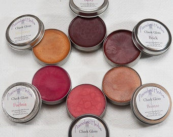 Colored Cheek Gloss organic natural handmade rouge blush mineral makeup