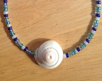 Blue Seashell Bracelet Anklet