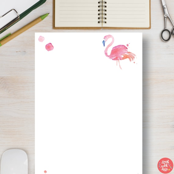 photo relating to Printable Flamingo Template named Printable Planner Flamingo All-Motive Blank Template. A4, A5, Letter  50 % Sizing Printables. Suitable for Bullet Magazine, Diaries #676