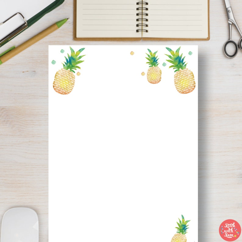 picture about Pineapple Template Printable titled Pineapple All-Reason Blank Template Printable Planner. Outstanding for Bullet Magazine, Diaries, Stencil. A4, A5, Letter Fifty percent Dimension #674