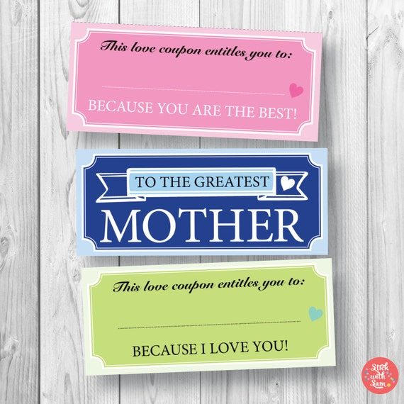 Print Off a Free Mother's Day Coupon Book