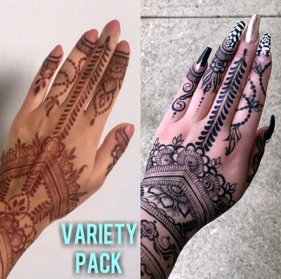 Variety Pack Two Jagua Cones Three Henna Cones Etsy