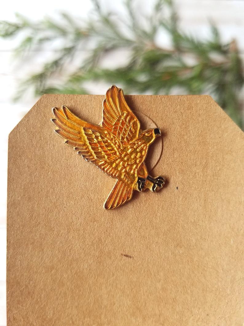 vintage bird enamel cloisonne brooch tie tack lapel pin set
