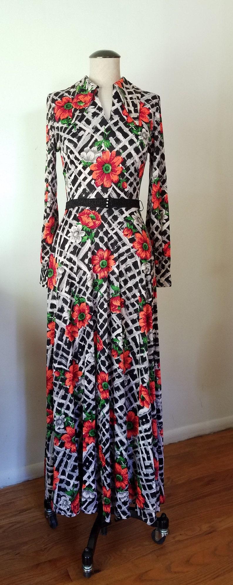 Black Friday vintage floral checkered dress