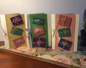 Handmade Christmas greeting card sets.
